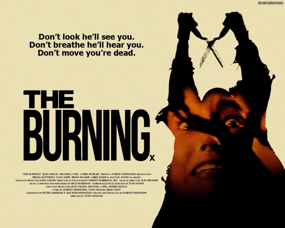 Cool Movie Posters : The Burning – Kendall Lacey's Webworld